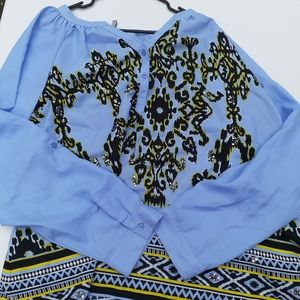 New Directions: Weekend cheetah print blouse